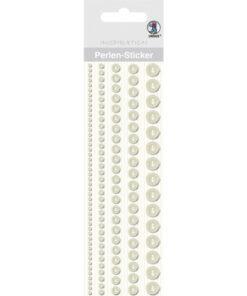 Ursus Perlen-Sticker weiß, zum Dekorieren