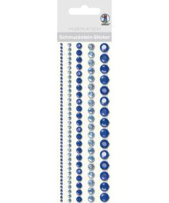 runde Bordüren-Sticker in blau