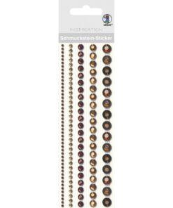 runde Bordüren-Sticker in braun