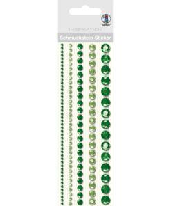 runde Bordüren-Sticker in grün