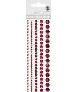 runde Bordüren-Sticker in rot