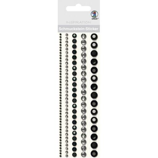 runde Bordüren-Sticker in schwarz