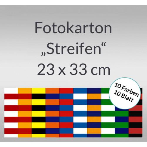 Ursus Streifen-Fotokarton, Bastelmappe, 23x33 cm