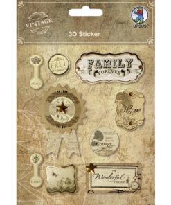 "3D-Sticker ""Vintage"" Motiv 2"