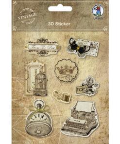 "3D-Sticker ""Vintage"" Motiv 4"