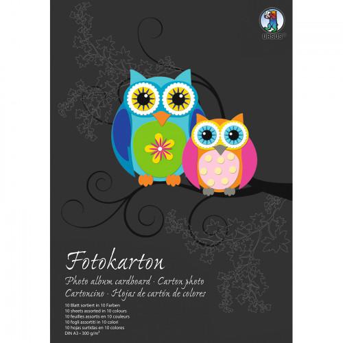 Ursus Fotokarton-Bastelblock A3, 10 Blatt sortiert