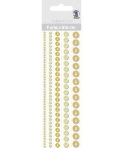 Ursus Perlen-Sticker, gelb, zum Dekorieren