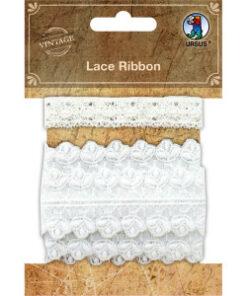 Ursus Vintage Spitzenband in weiß