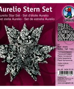 Faltblätter Aurelio-Stern Transparentpapier, Black&White Wappen