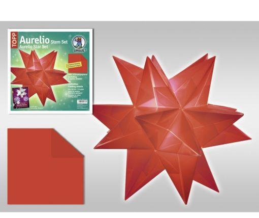Ursus Aurelio-Stern Transparent-Papier, rot