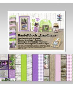 Ursus Bastelblock mit Landhausmotiven