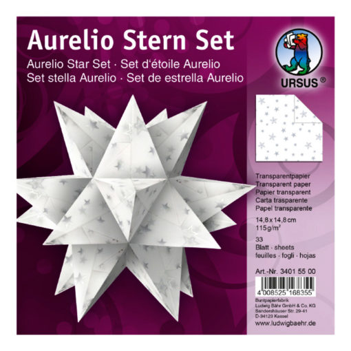Ursus Aurelio-Stern Transparentpapier, Silver Stars