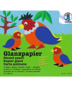 Ursus Glanzpapier, sortiert zum Basteln