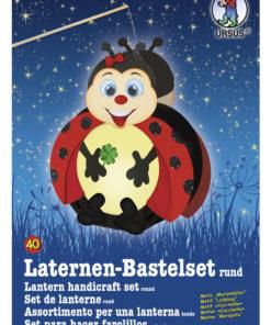 Ursus Laternen-Bastelset, rund, Marienkäfer