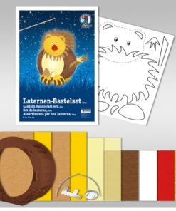 Ursus Laternen-Bastelset, rund, Löwe