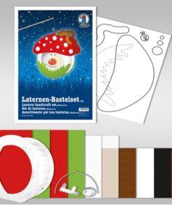 Ursus Laternen-Bastelset, rund, Pilz