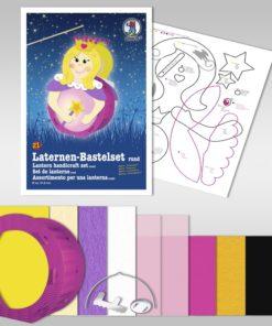 Ursus Laternen-Bastelset, rund, Prinzessin