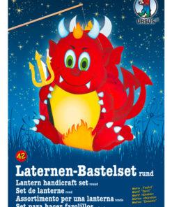 Ursus Laternen-Bastelset, rund, Teufel