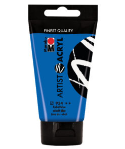 marabu artist acryl malfarbe kobaltblau 75ml