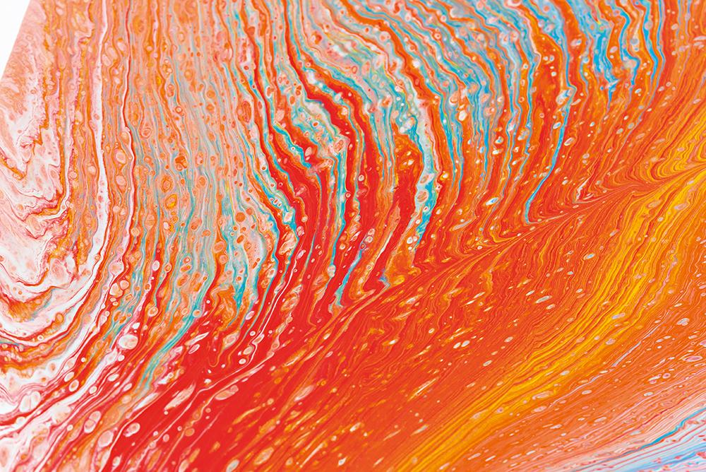SWIRL mit Acrylfarben und Pouring Fluid