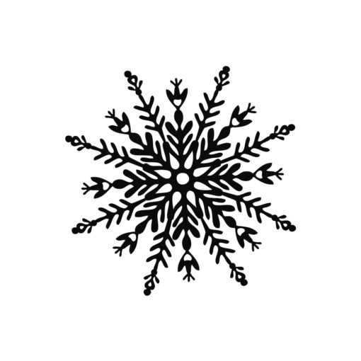 Stempel Schneeflocke