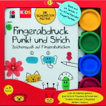 """Marabu KiDS Fingerfarbe """"Fingerabdruck"""" Set"""
