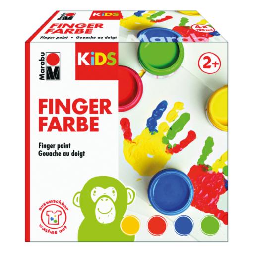 Marabu KIDS Fingerfarben SET 4-Becher