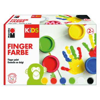 Marabu KIDS Fingerfarben SET 6-Becher