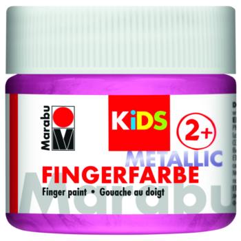 Marabu Fingerfarbe KIDS 733 Metallic-Rosa