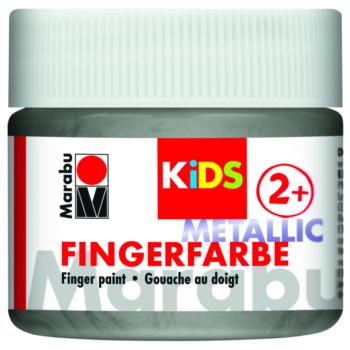 Marabu Fingerfarbe KIDS 752 Metallic-Silber