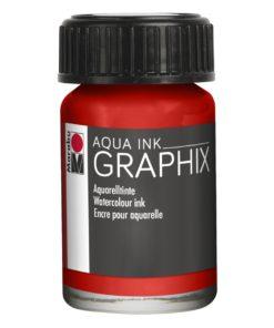 Marabu Aqua Ink Graphix 006 Zinnoberrot