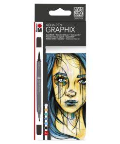 Marabu Aqua Pen Graphix METROPOLITAN 6er Set