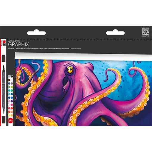 Marabu Aqua Pen Graphix OCTOPY 24er Set