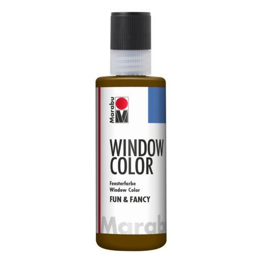 Marabu Window Color fun & fancy 045 dunkelbraun 80 ml