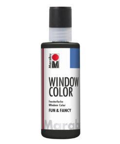 Marabu Window Color fun & fancy 073 Konturen schwarz 80 ml