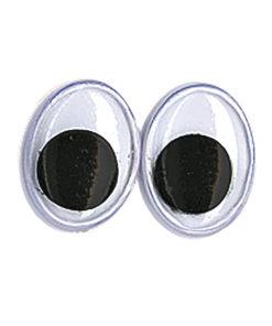 ovale Plastik-Wackelaugen 10mm