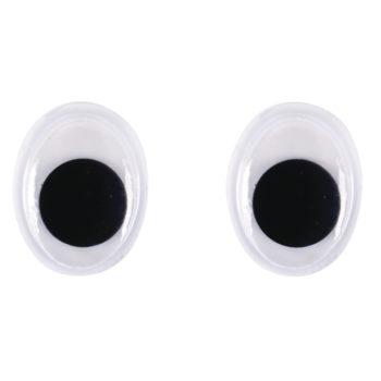 ovale Plastik-Wackelaugen 12mm