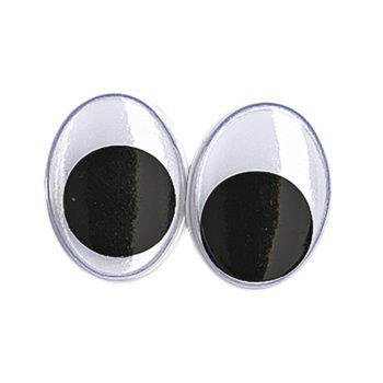 ovale Plastik-Wackelaugen 15mm