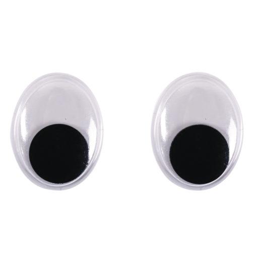 ovale Plastik-Wackelaugen 18mm