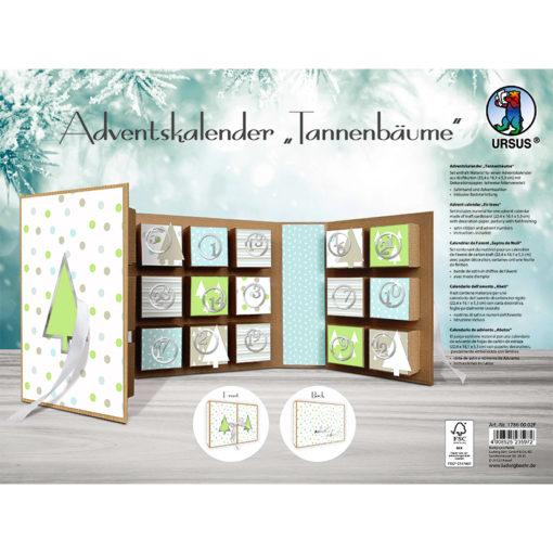 Adventskalender Buch Tannenbäume
