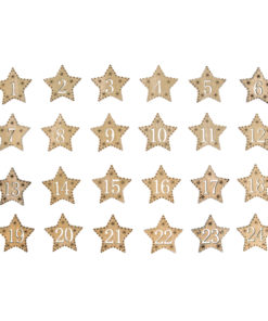 Adventszahlen, Sterne, 1-24