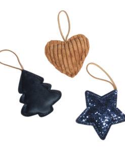 Anhänger: Baum, Herz und Stern