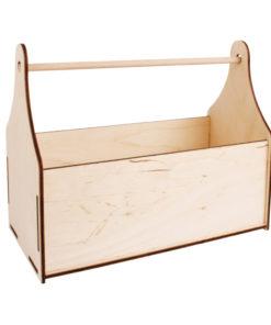 Basic Bastelset Holzhenkelbox