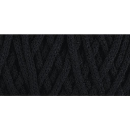 Braidy Recycling Garn, geflochten, 4mm ø, schwarz