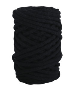 Braidy Recycling Garn, geflochten, 6mm ø, schwarz