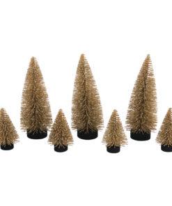 Deko-Tannenbäume beglimmert