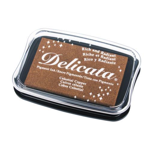 Delicata Metallic Stempelkissen in kupfer