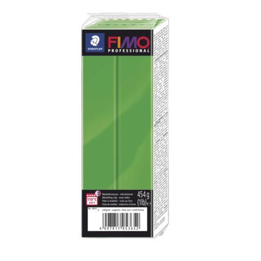 Fimo Professional Großblock, 174x60x33mm, 454g, giftgrün