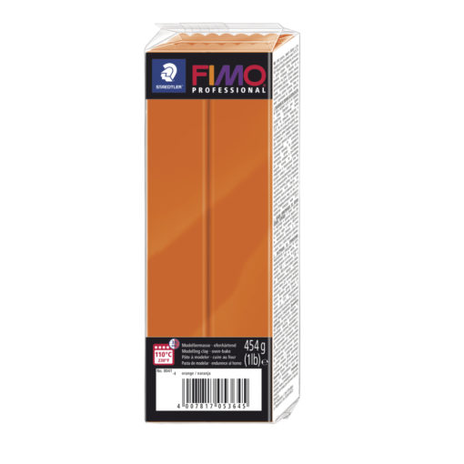 Fimo Professional Großblock, 174x60x33mm, 454g, orange