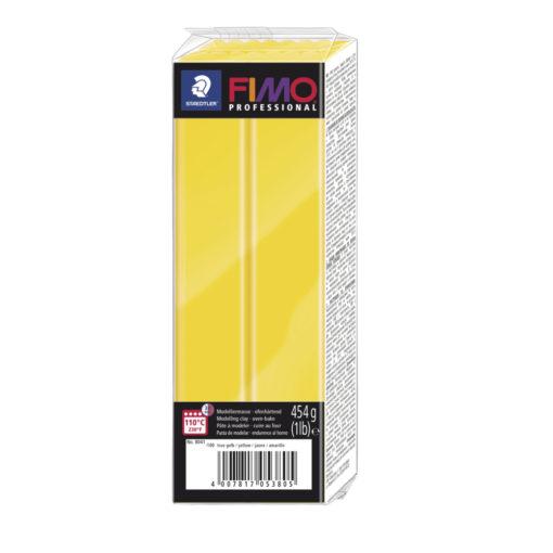 Fimo Professional Großblock, 174x60x33mm, 454g, zitrone